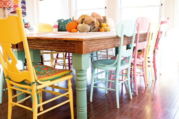 Цветна трапезария с интериорни бои