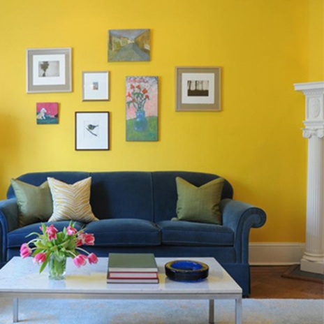 Жълто и цветен латекс