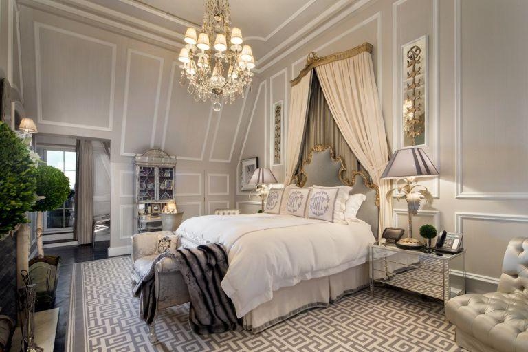 Сивя боя за стена в спалнята