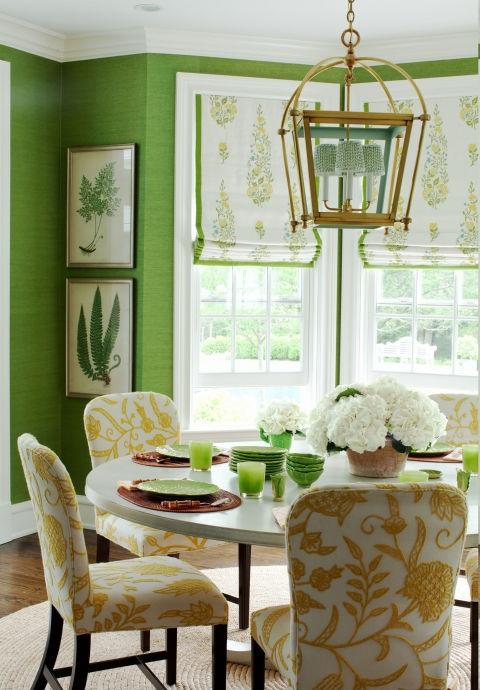 Цветен латекс в зелено