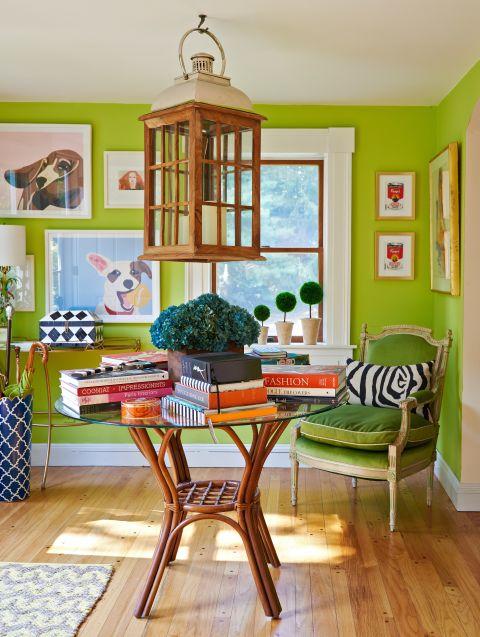Зелените интериорни бои