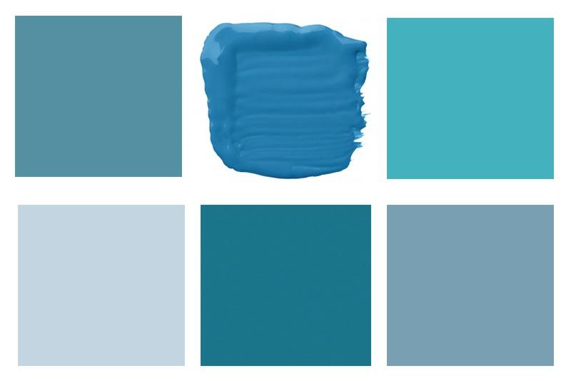 Синя боя за стена