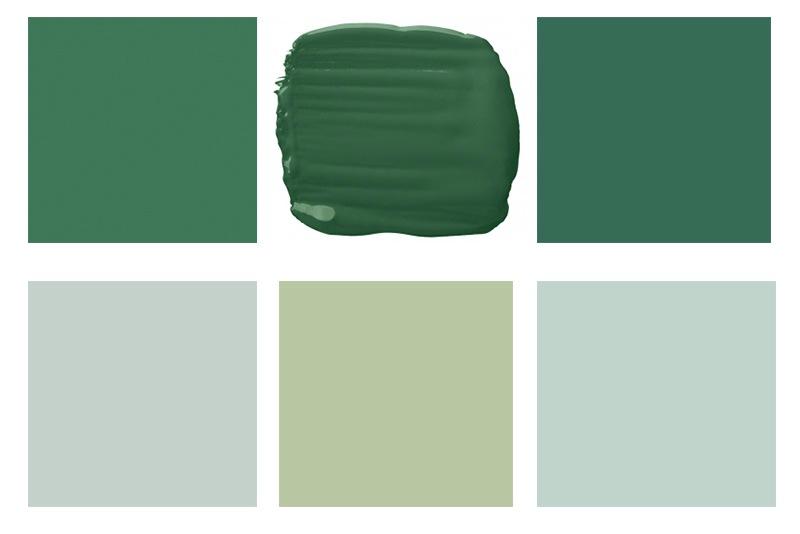 Зелен цвят боя за стена